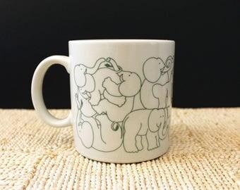 Elephant Orgy. Vintage Taylor and Ng Animates mug.