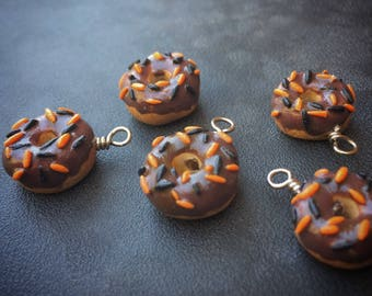 Ghoulish Goodies: Chocolate Glazed Donuts with Halloween Sprinkles for Knitters & Crocheters