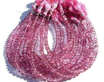 50% Off Sale 1/2 Strand - 4 - 5 mm AAA Pink Topaz Micro Faceted rondelles