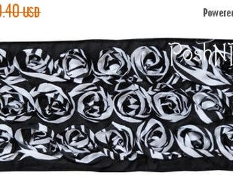 20% OFF EXP 06/30 Two yards Rosette Ribbon 4 inches - Black Zebra