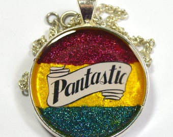 Pantastic Pan Pride Queer Glitter Resin Pendant