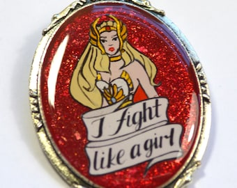 She-Ra Princess of Power 80s Retro Geeky Feminist Resin Brooch