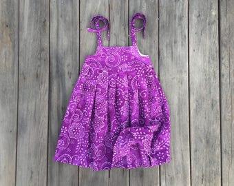 Purple Batik Girls Dress