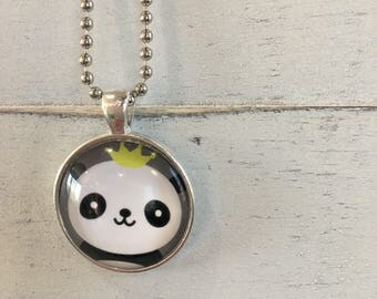 Panda King/Queen charm necklace