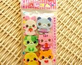 Kawaii Japanese Eraser - Cute animals