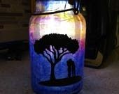 Reserved for Natalia - Custom Solar Canning Jar Light