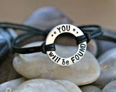 You Will Be Found Dear Evan Hansen Inspired Adjustable Bracelet - Broadway Musical - Theater gift - Actor gift - Fan Gift - Unisex