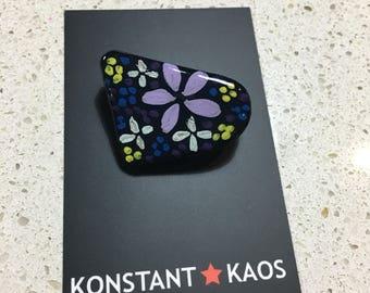Handpainted Flower brooch