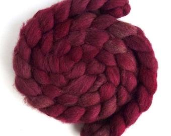 Dirty Pinks, Fawn Shetland Roving - Handpainted Spinning or Felting Fiber