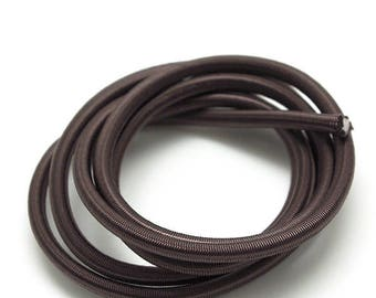1 m with elastic cord - sandow - 4.5 mm - taupe