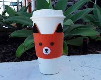 Felt Fox Cup Sleeve