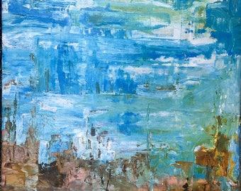 Striated Skies, Original oil painting on canvas