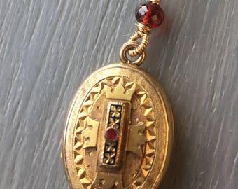 Victorian Etruscan Locket-Antique Locket