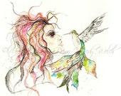 Hummingbird Girl Tee Listing for Tammy :)