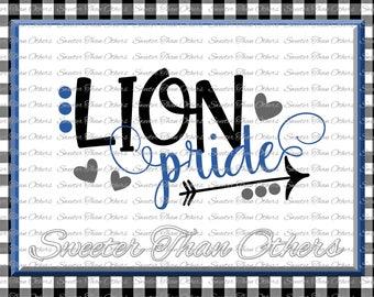 Lion Pride Svg, Football Lion, Baseball Lion, Basketball Lion, Vinyl Design SVG DXF Silhouette, Cameo, Cricut, Instant Download