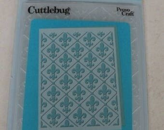Provo Craft CuttleBug Embossing Folder, Fleur De Lis