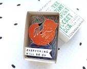 Fantastic Mr. Fox - The Instant Comfort Pocket Box - alles zal worden ok - troost of cheer doos - sympathie cadeau