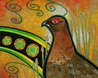 Red Grouse as Totem - Original Art