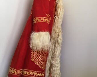 SALE-1970's Afghan Embroidered Shearlng Russian Princess coat