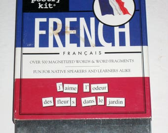 Magnetic Poetry Kit -  French Kit  - Magnetic Words for Crafting or Learning