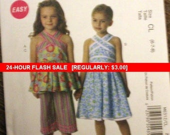McCall's 6312 Easy sewing pattern size 6-7-8