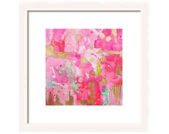 Pink Abstract Print-Fine Art Print-Giclee Print-Wall Art-Abstract Painting-Home DecorPink