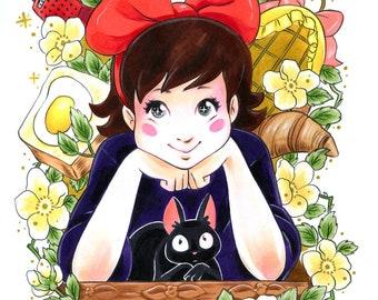 "Kiki's Delivery Service Art Print 11x14"""