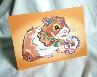 Muertos Hamster Greeting Card