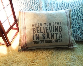 """Pillow With Quote...""""When You Stop...""""...House warming Gift Pillow..Throw Decorative Pillow..Couch Pillow..Beach House Pillow..Chic Decor"""