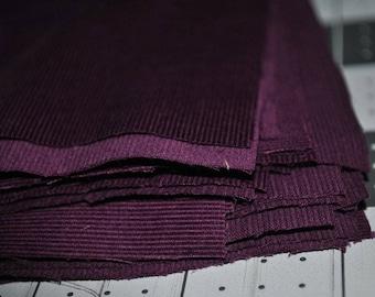 20 Pack 5 Inch Deep Purple Mini Corduroy Squares Quilting Stash