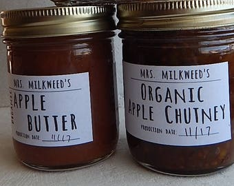 TWO jars jam, jelly, chutney, organic, small batch Use this listing to purchase two jars