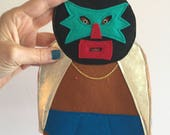 Handmade Wrestler Tree Topper, Luchadore, Christmas Tree Decoration