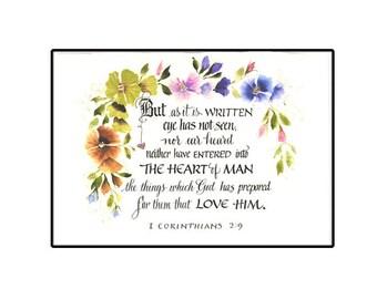 Beautiful Christian Floral Scripture Card