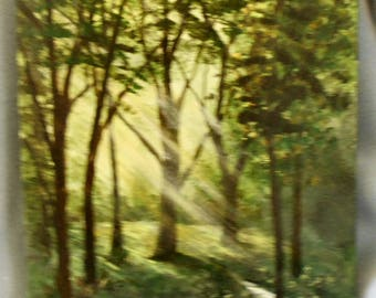 Sunrise In The Forest Original Painting