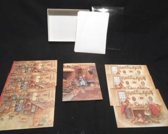 7 Vintage Tasha Tudor Corgi Note Cards & Envelopes – Unused