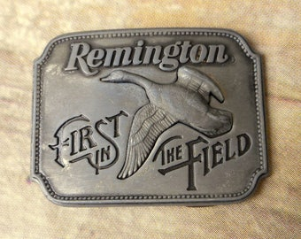 Remington Belt Buckle Canada Goose Canadian Geese 1980 First In The Field Hunter