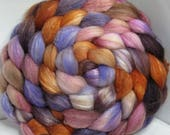 Sale Merino/Baby Camel/Tussah 60/20/20 Roving Combed Top - 5oz - Painted Desert 1