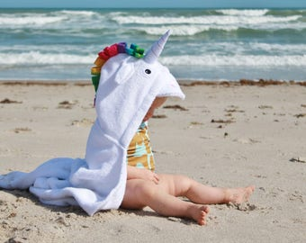 Yikes Twins  BABY Unicorn Hooded Towel