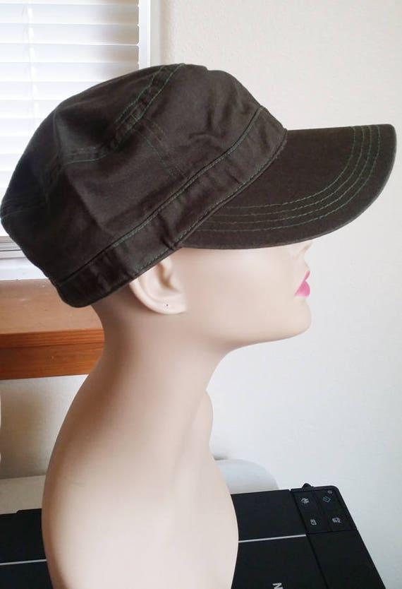 army green trucker style jean hat womens one size baseball cap
