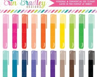 80% OFF SALE Markers Clipart Graphics School Planner Teachers or Office Supply Clip Art Graphics Personal & Commercial Use