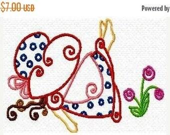SALE 65% OFF Sunbonnet Sun bonnet Sue Color Lines Machine Embroidery Designs Instant Download Sale