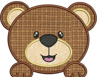 SALE 65% OFF Cute Baby Bear Face Applique Machine Embroidery Designs 4x4 & 5x7 Instant Download Sale