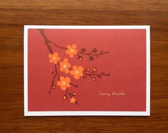Cherry Blossoms Boxed Thank You Cards
