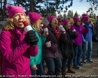 WOMENS MARCH 2018, The Resistas, Drake Park, Bend, Oregon, Clyde Keller Photo