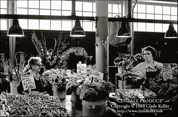 GENZALE PRODUCE, Pike Place Farmer's Market, Keller 1980 photo