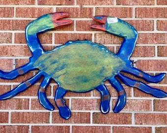 blue crab shack beach wedding party crab lovers restaurant seafood tiki bar river lake cottage beach outdoor art BeachHouseDreamsHome OBX