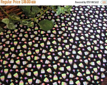SALE Happy Birthday Table Runner Cakes Cupcakes Glitter Padded
