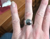 Reserved sterling purple coun oearl ring