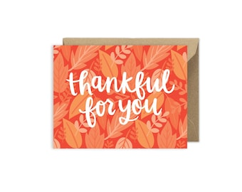 Thankful For You - Fall Thanksgiving Card