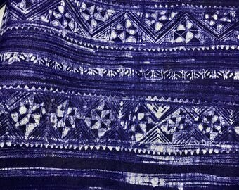 Vintage Hmong Hand BatikHemp Fabric